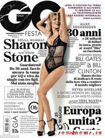 Сексуальная Шэрон Стоун в новой фотосессии для глянца