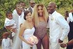Серена Уильямс поразила гостей свадебной церемонии своим леопардовым купальником