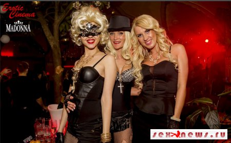 Вечеринка Erotic Cinema показала Мадонну по-своему: секс, черное кружево и латекс
