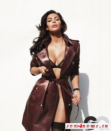 Ким Кардашьян обнажилась для мужского журнала