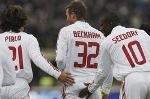 Футболисты атаковали ягодицы Дэвида Бэкхема