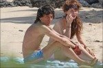 Ронни Вуд и Катя Иванова развлекались на пляже