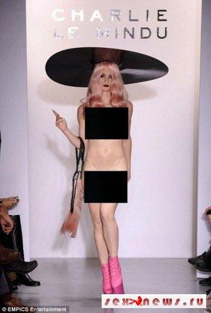 Дизайнер отправил голых моделей на подиум