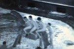 В Риге задержали голых британцев на деревянной лошади