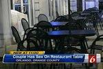 Американская пара избежала наказания за секс на столе в ресторане