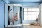 Стеклянная душевая кабина в ванной: выгода и комфорт